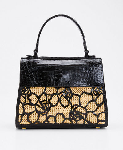 Floral Lexi Small Top Handle Bag