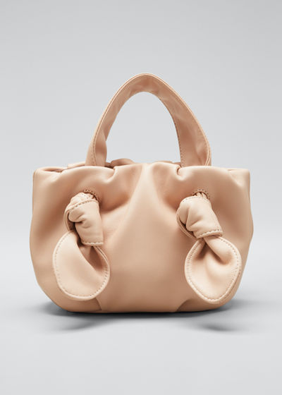 Ronnie Leather Knotted Tote Bag