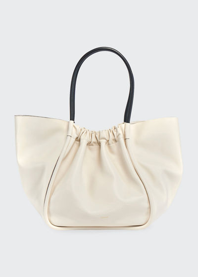 Extra Large Ruched Smooth Tote Bag
