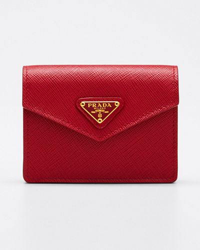 Saffiano Triangolo Small Wallet