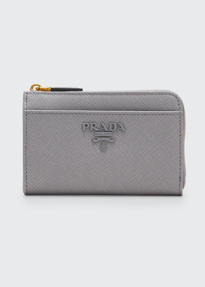 Saffiano Shine Wallet with Key Ring