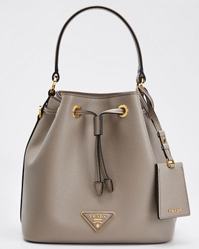 Saffiano Bucket Bag w/ Removable Crossbody Strap
