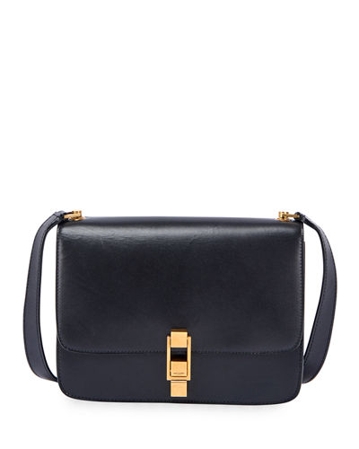 Carre Medium Calf Leather Crossbody Bag