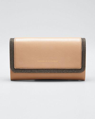 Leather Flap-Top Belt Bag