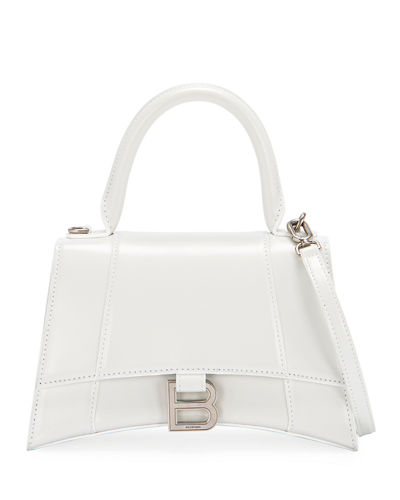Hour Small Shiny Leather Top Handle Bag by Balenciaga