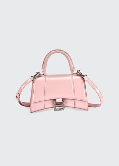 Hour Small Shiny Leather Top-Handle Bag