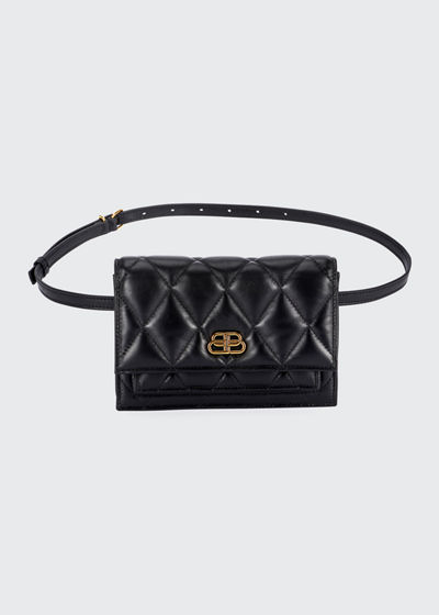 Sharp Quilted XS Belt Bag