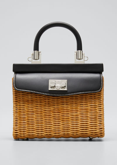 Paris Mini Wicker Top-Handle Bag