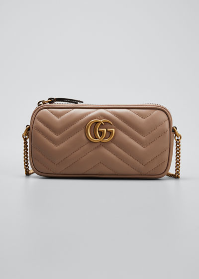 GG Marmont 2.0 Mini Matelasse Chain Wallet Bag