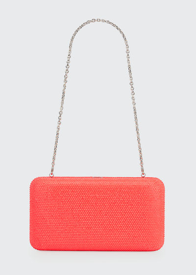 Smooth Rectangle Neon Full-Bead Clutch Bag