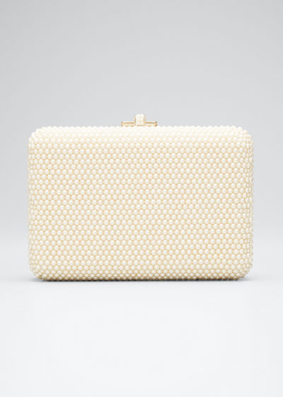 Slim Slide Pearly Evening Clutch Bag