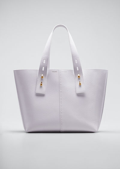 Leather Top Handle Tote Bag