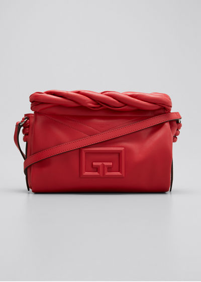 ID 93 Leather Crossbody Bag with Twisted Detail
