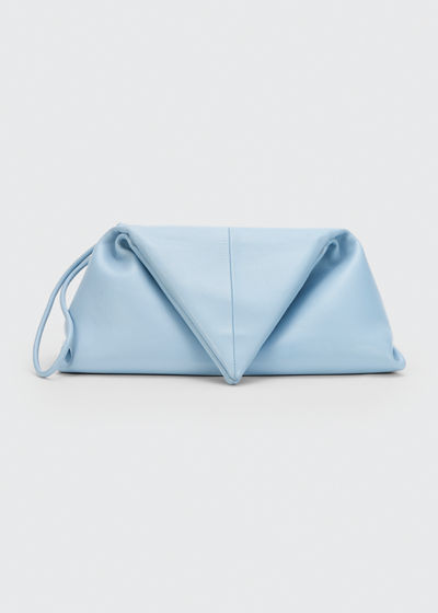 Small Napa Leather Clutch Bag