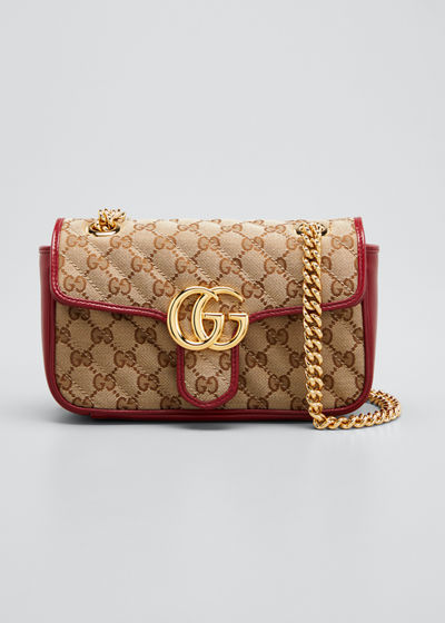 GG Marmont 2.0 Mini Original GG Canvas Shoulder Bag