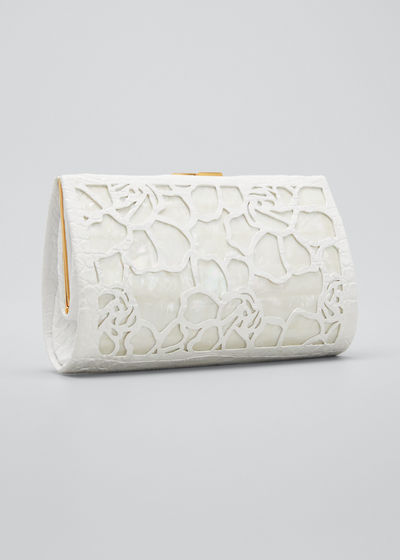 Colette Exposed Frame Clutch Bag with Mother-of-Pearl