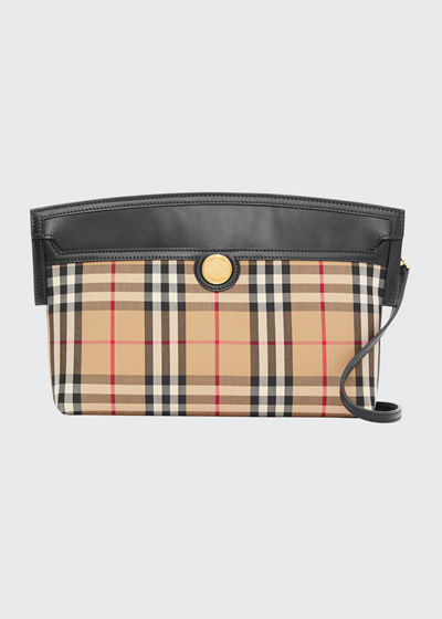 Society Vintage Check Clutch Bag