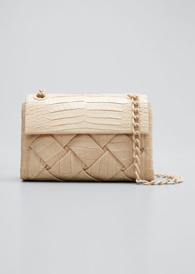 Madison Small Woven Shoulder Bag