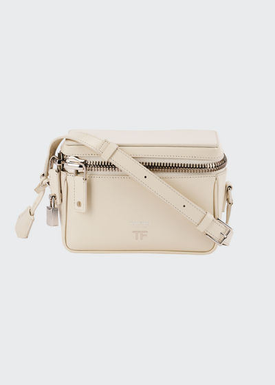 Metro Small Soft Leather Box Shoulder Bag with Silver Hardware