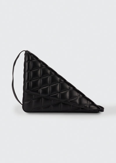 Triangle Quilted Puffy Clutch Bag