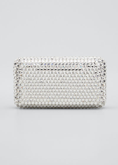 Bling Crystal Rectangle Cocktail Clutch Bag