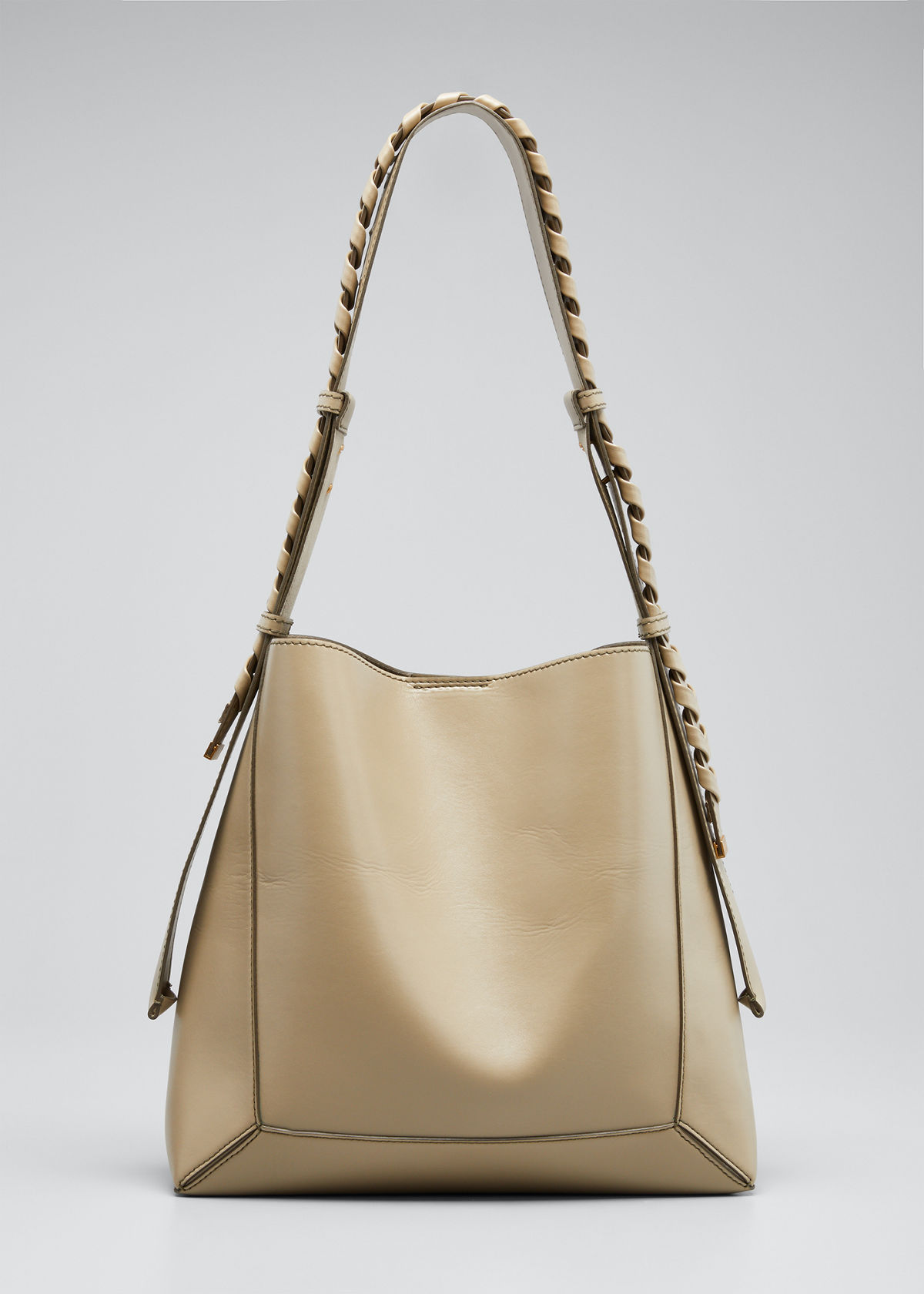 Stella Mccartney MEDIUM ECO BRAIDED-STRAP HOBO BAG