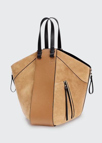 Hammock Suede & Leather Two-Tone Tote Bag