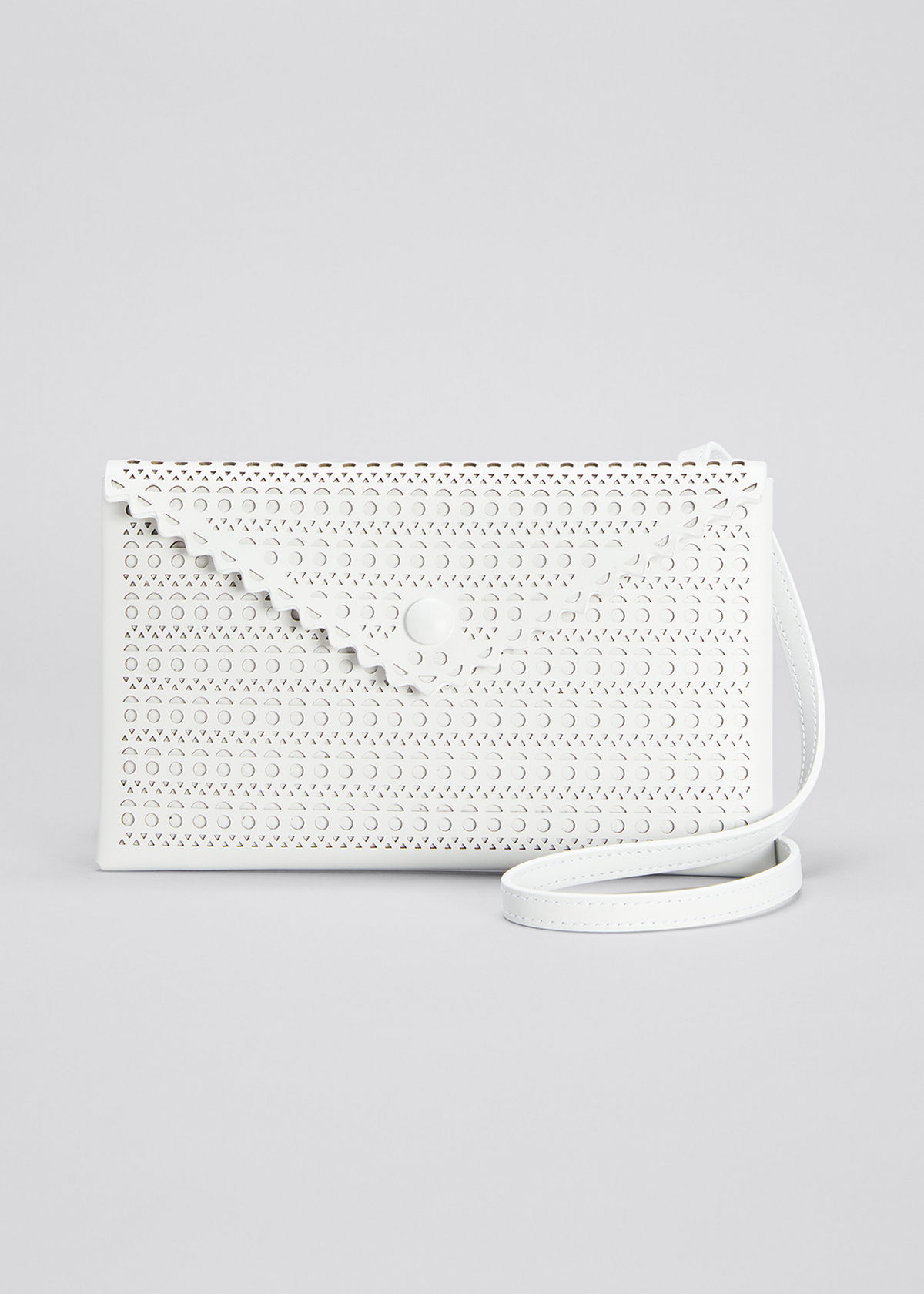 Alaïa LOUISE 20 LASER-CUT ENVELOP CLUTCH BAG