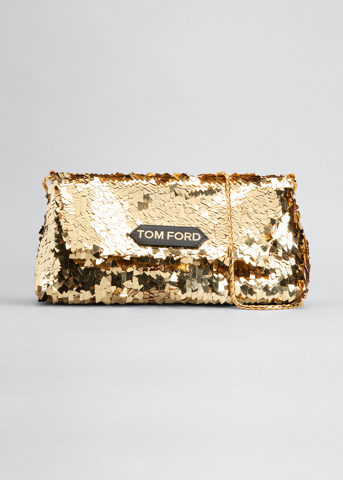 Tom Ford LABEL SMALL SEQUIN CHAIN SHOULDER BAG