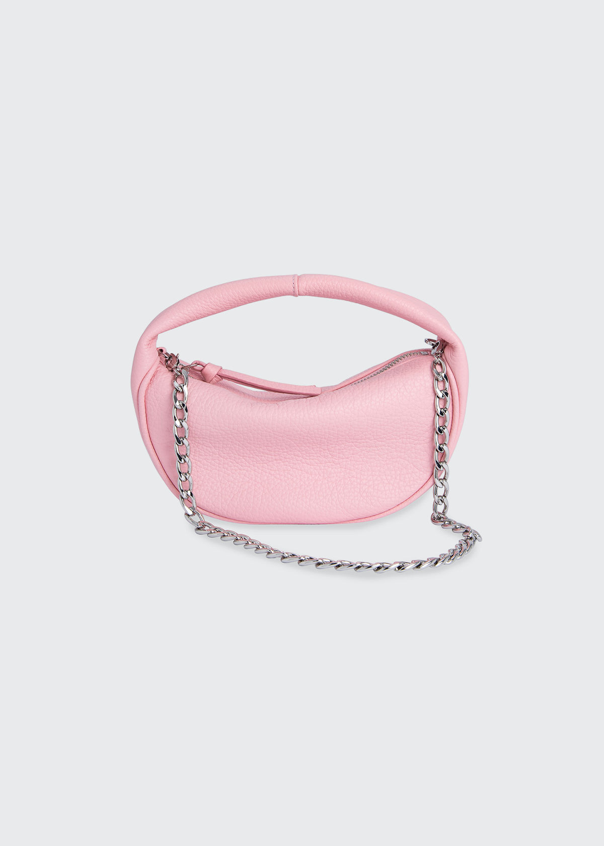 By Far Baby Cush Leather Shoulder Bag, Peony