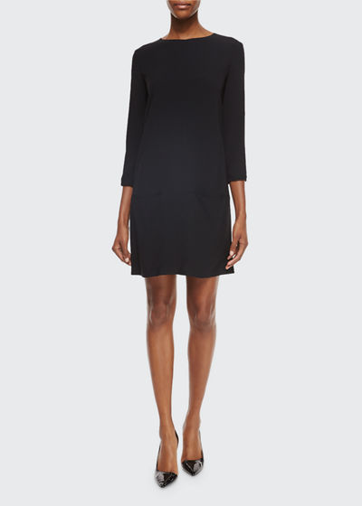 Marina 3/4-Sleeve Shift Dress