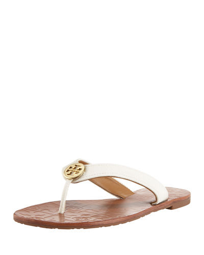 Tory Burch Leather Thong Sandals Cheap Price Wholesale Price Reliable Cheap Price FT0rDV