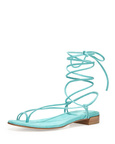 Nieta Striped Lace-Up Sandal