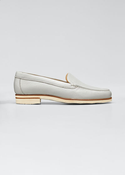 Pebbled Leather Venetian Loafer