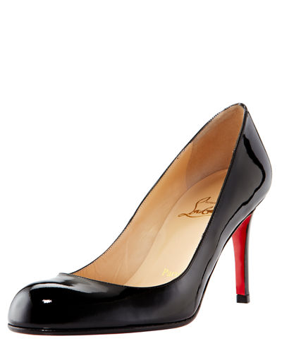 pretty nice 81322 24286 Simple Patent 85mm Red Sole Pumps