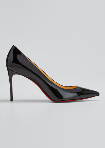Christian Louboutin Decollete 85mm Patent Leather Red Sole