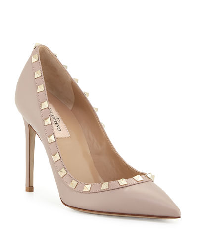 Rockstud Leather 100mm Pumps
