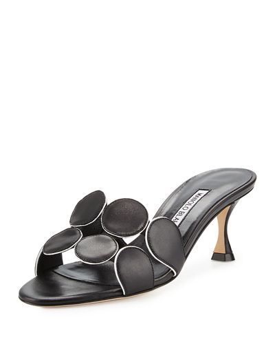 Hairibamu Leather 65mm Mule Sandal