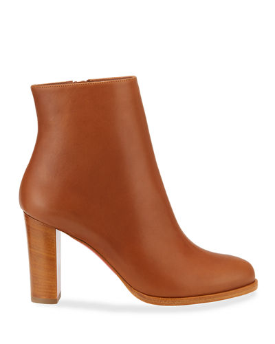 Adox Leather Block-Heel Red Sole Boots