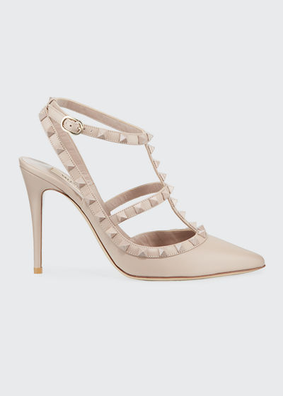Rockstud Leather 100mm Pump