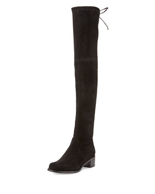 Midland Suede Over-The-Knee Boot in Black
