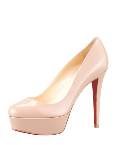 Bianca Almond-Toe Platform Red Sole Pump