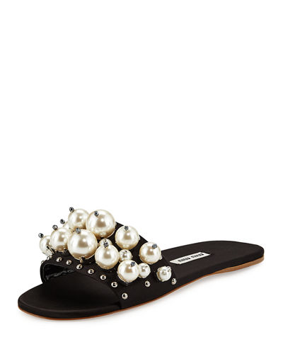 Embellished slides Miu Miu Pf5bIG