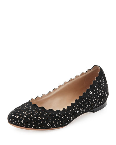 Lauren Leather Ballerina Flat