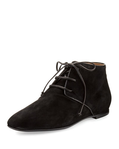 Ada Suede Lace-Up Bootie