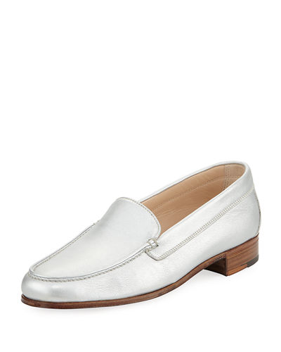 Metallic Leather Venetian Loafer