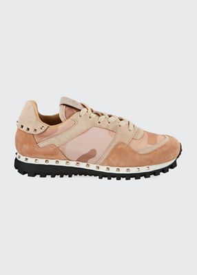 Rockrunner Camouflage Sneakers in Pink