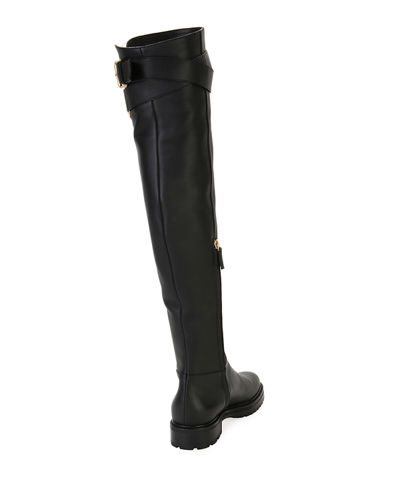 355f1d0a1a7 Valentino Garavani Over-the-Knee Leather Boot