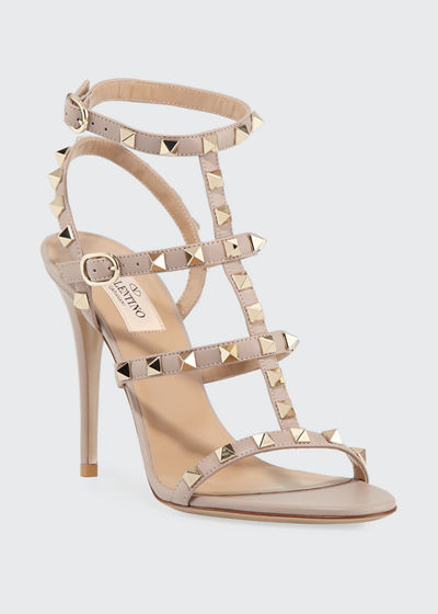 a5d9b6ab7db8d Valentino Garavani Rockstud 105mm Caged Leather Sandals
