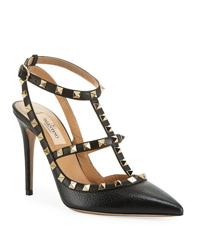 a5c6b7cef792 Red Valentino Leather Shoes. Rockstud Leather Caged Pump